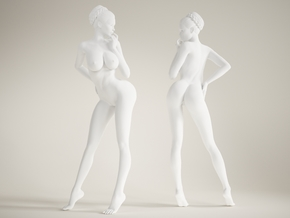 1/10 long leg lady-002 in White Strong & Flexible Polished