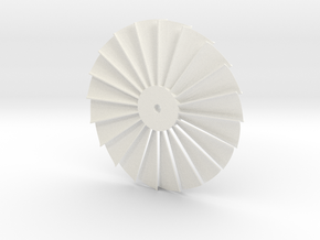 Stater Turbine in White Processed Versatile Plastic
