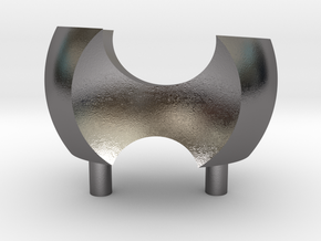 Ass Chair  in Polished Nickel Steel