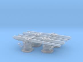 """1:240 4""""/50 USN Deck Gun for USS Ward DD in Smoothest Fine Detail Plastic"""