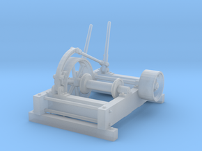 HO Log Haul-up winch in Smooth Fine Detail Plastic