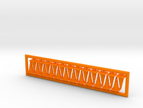 Traffic Cones 01. HO Scale (1:87) in Orange Strong & Flexible Polished
