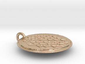Small Yantra in 14k Rose Gold Plated