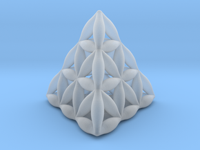 Flower Of Life Tetrahedron in Smooth Fine Detail Plastic
