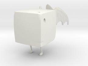 Demon Brick in White Natural Versatile Plastic