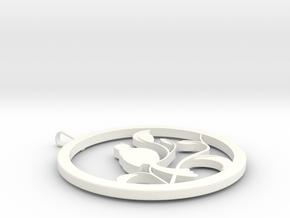 BirdPendant1 in White Processed Versatile Plastic