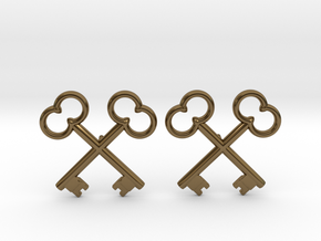 The Society of the Crossed Keys Lapel Pins in Polished Bronze