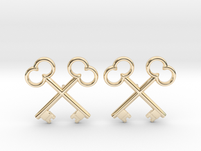 The Society of the Crossed Keys Lapel Pins in 14k Gold Plated Brass