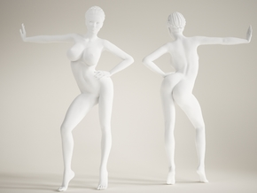 Long Leg Lady scale 1/10  005 in White Strong & Flexible Polished