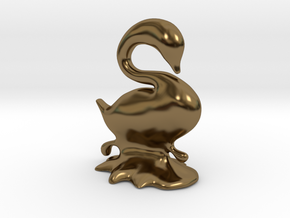 Swan in Polished Bronze
