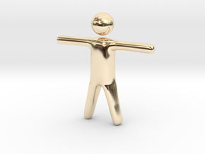 Stickman in 14K Yellow Gold