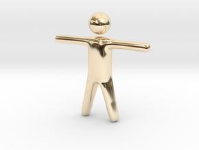 Stickman in 14K Gold