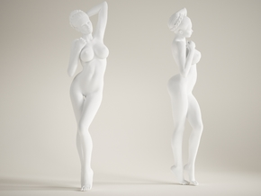 Long Leg Lady scale 1/10 019 in White Strong & Flexible Polished