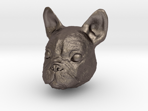 Dog in Polished Bronzed Silver Steel