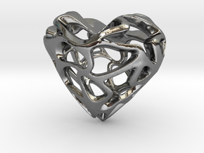 Loveheart in Fine Detail Polished Silver