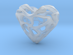 Loveheart in Smooth Fine Detail Plastic
