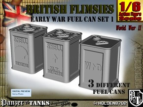 1-6 British Flimsies Can Set1 in White Natural Versatile Plastic