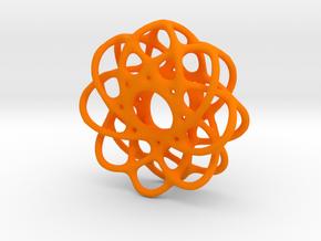 Spiro Pendant No.1 in Orange Processed Versatile Plastic