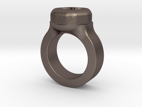 Ring in Polished Bronzed Silver Steel