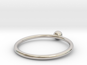 Pearl ring UNIK - size 52 in Rhodium Plated Brass