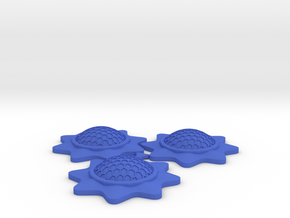 Stackable Shield Token 3 Pack for X-Wing Miniature in Blue Processed Versatile Plastic
