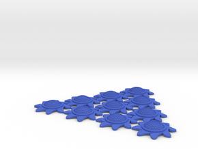 X-Wing Stackable Shield Token 10 Pack (Starburst) in Blue Processed Versatile Plastic
