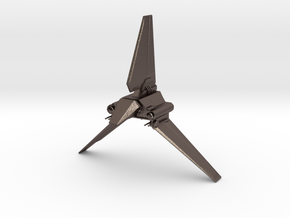 Imperial Lambda Shuttle - Wings Extended  in Polished Bronzed Silver Steel