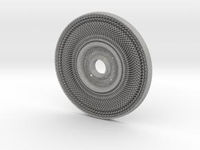 Peace Wheel Pendant #1 in Aluminum