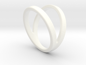 Split Ring Size US 9.5 in White Processed Versatile Plastic