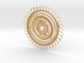 Floral Pendant #1 in 14K Gold