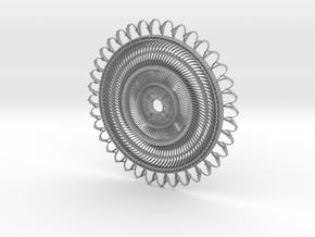Floral Pendant #1 in Aluminum