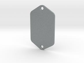 Jaguar Plate - Blank in Polished Metallic Plastic