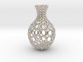 Gradient Ring Vase in Rhodium Plated Brass