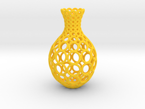 Gradient Ring Vase in Yellow Processed Versatile Plastic