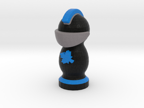 Catan Robber Knight Blk Blu Maple Leaf in Full Color Sandstone