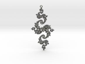Julia Pendant 1 HP0 in Fine Detail Polished Silver
