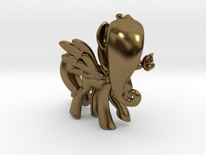 Fluttershy 1 Full Color - M1 in Polished Bronze
