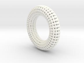 Hole Ring in White Processed Versatile Plastic