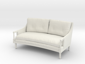 1:24 French Sofa in White Natural Versatile Plastic