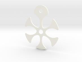 Flower Necklace - Part 2 - Metallic in White Processed Versatile Plastic