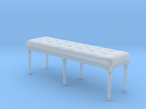 Louis XVI Bench in Smooth Fine Detail Plastic: 1:24
