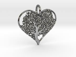 Let Your Love Grow pendant in Fine Detail Polished Silver