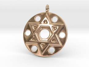 Star Of David in 14k Rose Gold Plated Brass