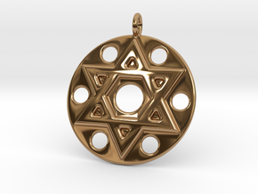 Star Of David in Polished Brass