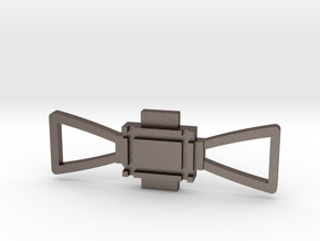 Obi Wan Buckle in Polished Bronzed Silver Steel