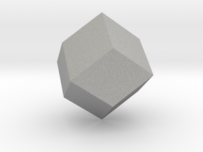 rhombic dodecahedron in Raw Aluminum