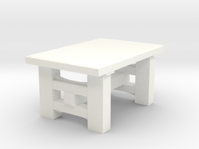 Heavy Table in White Strong & Flexible Polished