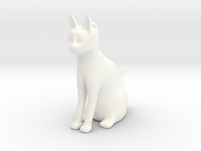 CatCharm in White Processed Versatile Plastic