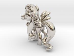 Fluttershy 1 Full Color - S1 in Platinum