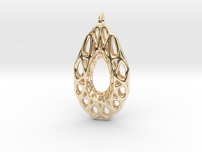 Wire Gem Pendant in 14K Yellow Gold